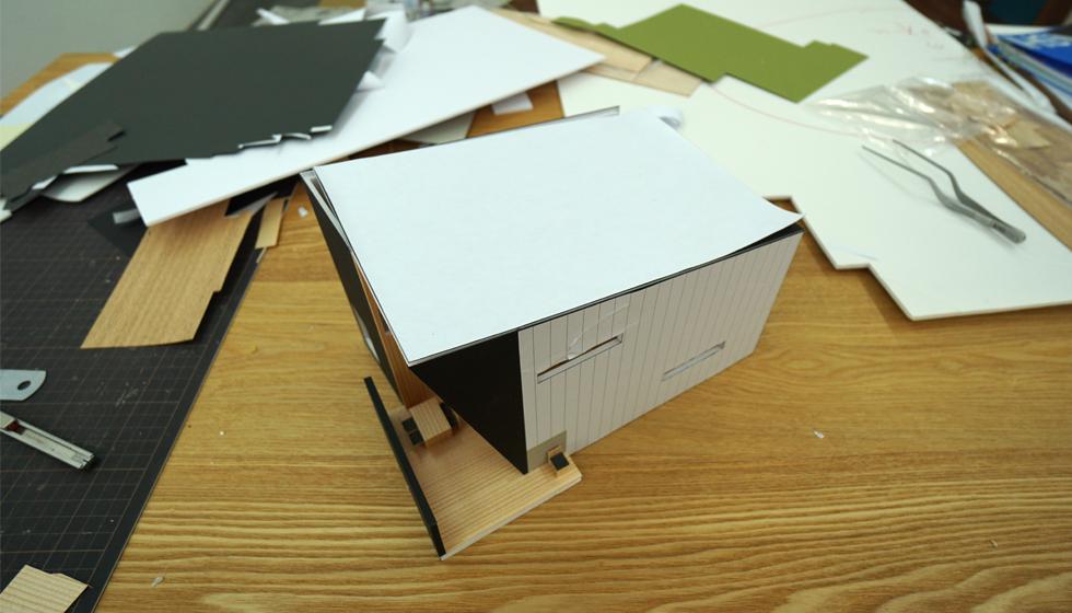名古屋の家_模型写真