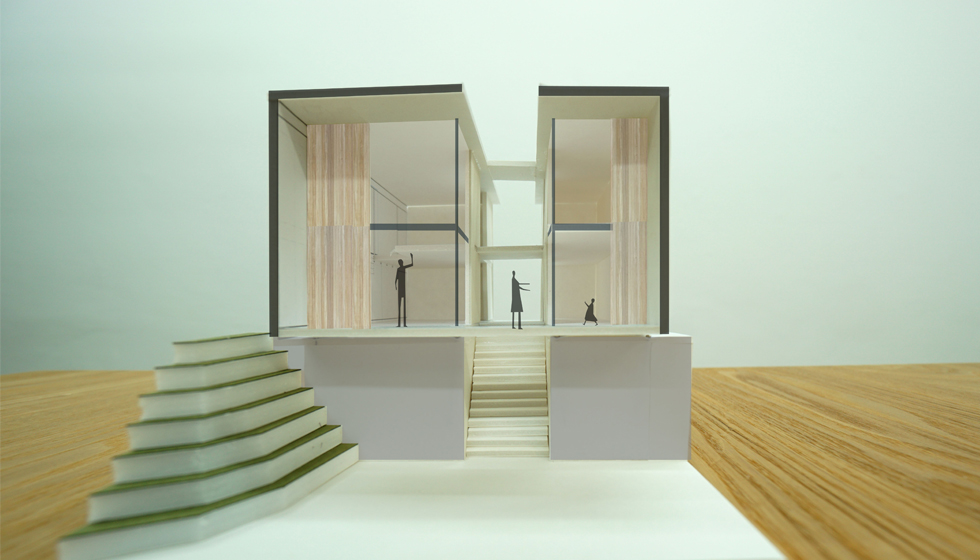 建築家の住宅,名古屋の家,エスキス模型