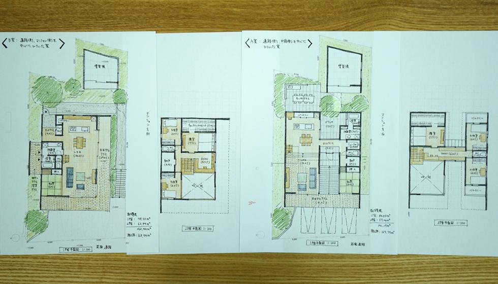 建築家の住宅,名古屋市名東区の家,エスキス
