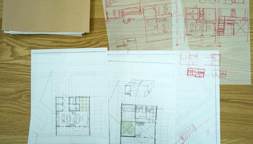 建築家の住宅,茨木の家,彩都ラフプラン