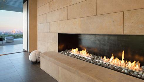 建築家の暖炉