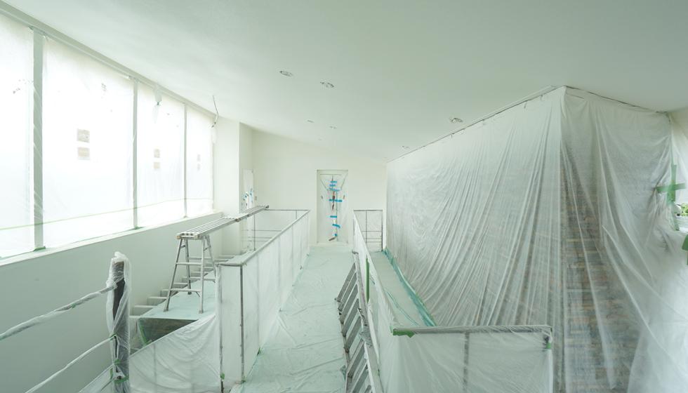 天井塗装壁左官下地