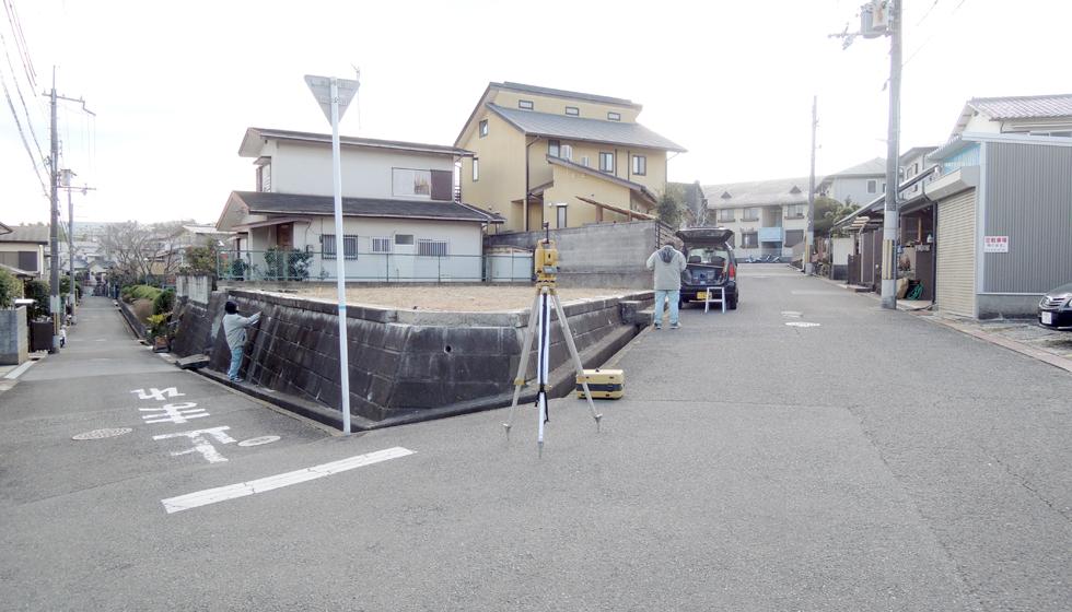 狭山の家_敷地測量