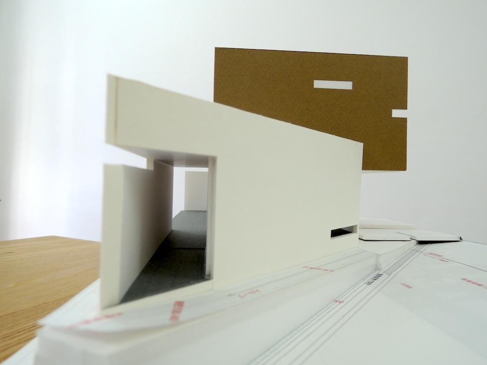 中庭の家_水盤の家_模型