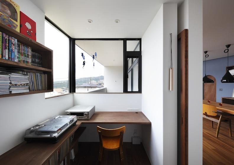宝塚山手台の家,建築家,書斎