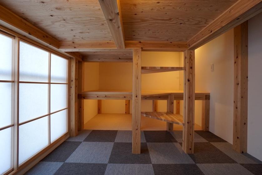 木のマンションリノベーション,スタディコーナー