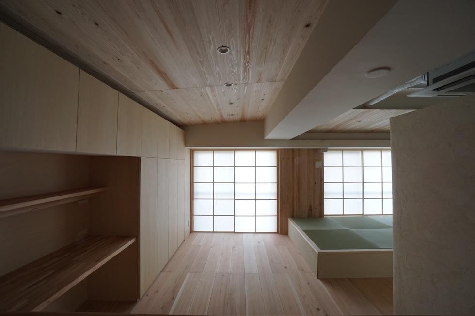 木のマンションリノベーション,ナチュラルリビング
