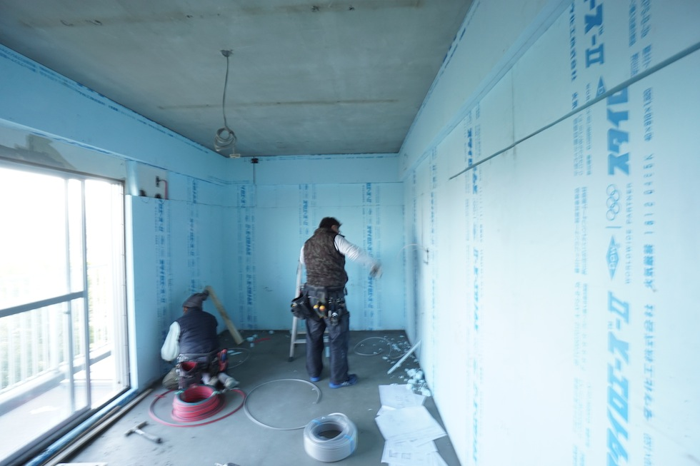 断熱工事,木のマンションリノベーション