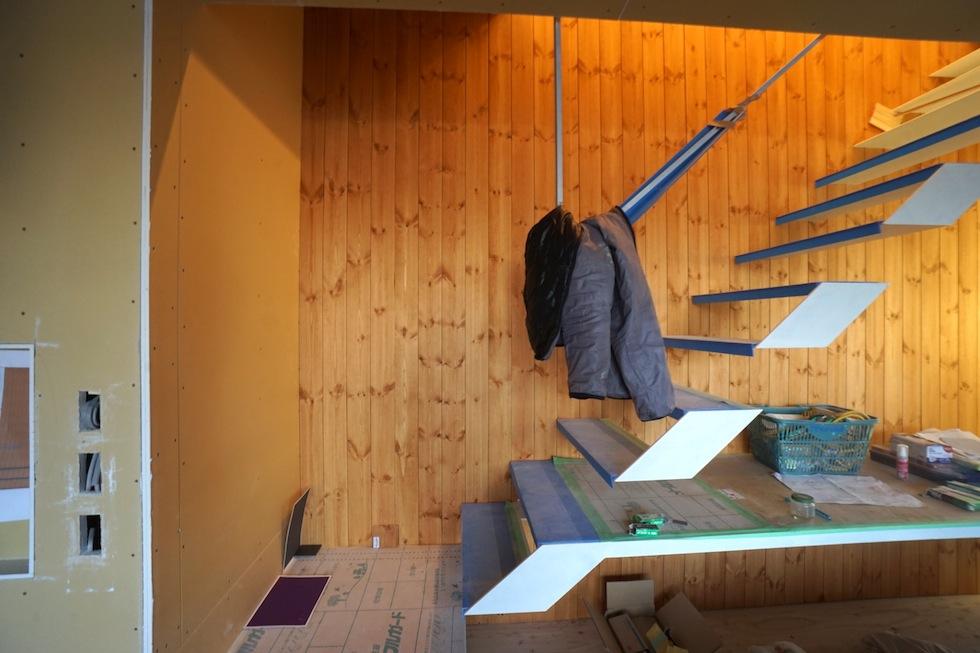 リビング階段,板貼り,建築家,大阪,京都