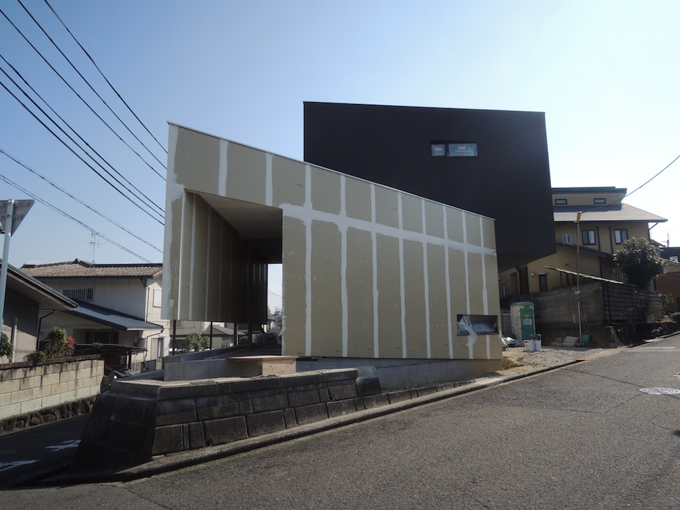 外壁塗装,建築家,変形地,住宅設計
