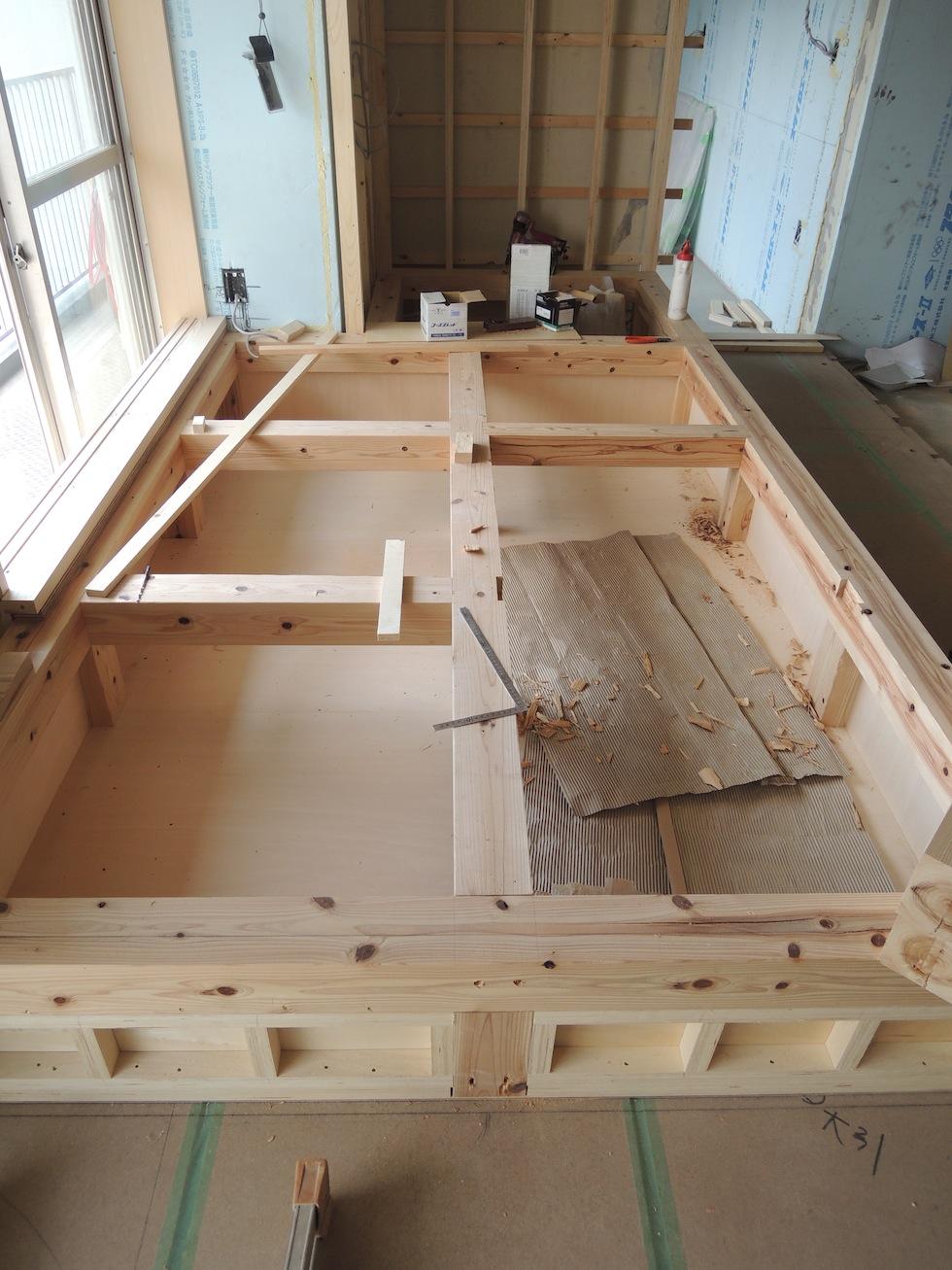 木のマンションリノベーション,大阪,南港,床下収納