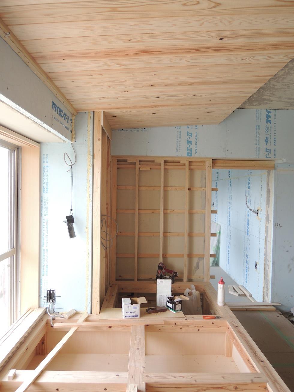 木のマンションリノベーション,大阪,南港,畳みコーナー