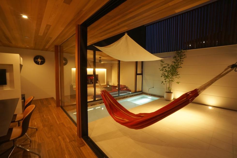 ガレージハウス,中庭の家,大阪府,デザイン