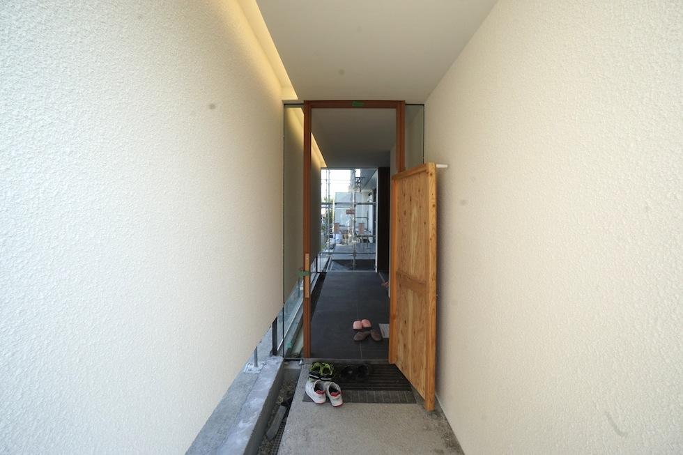 大阪,建築家,住宅設計,アプローチ