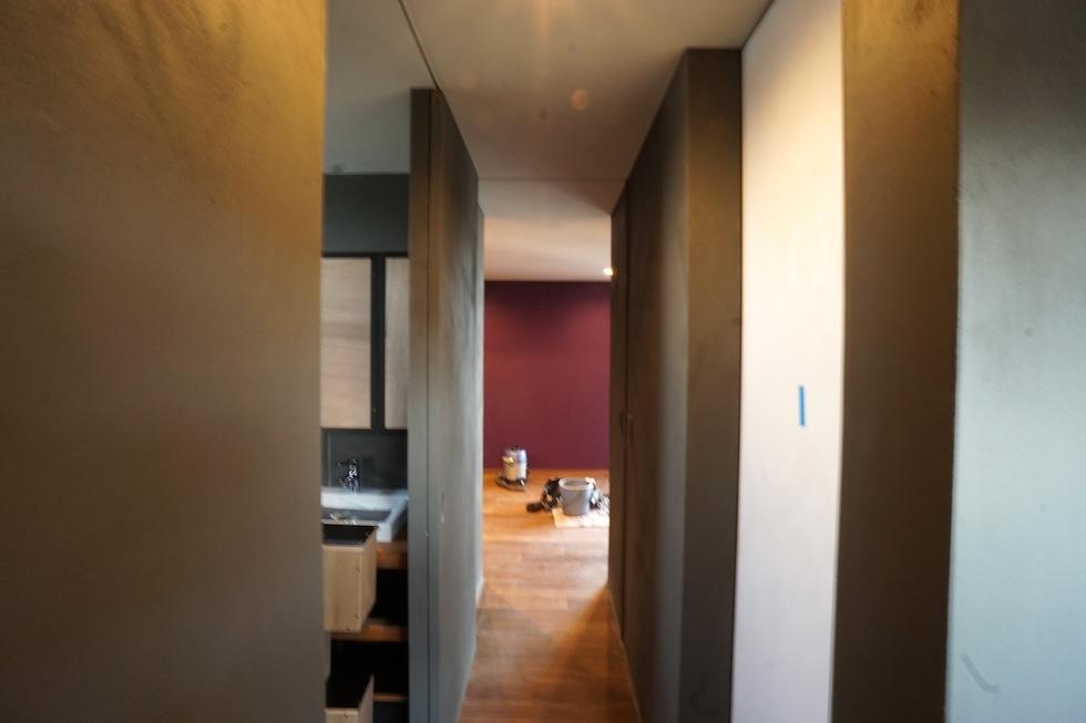 寝室アクセントカラー,大阪,建築家,住宅設計