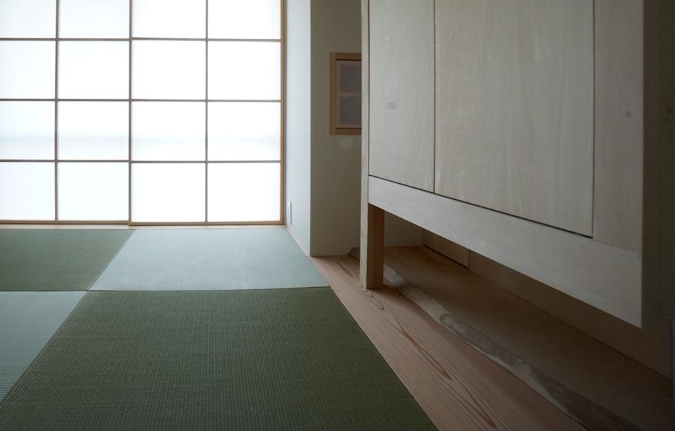 床板,木のマンションリノベーション