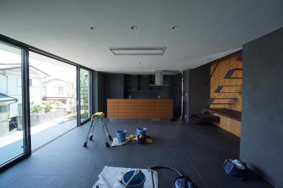 大阪狭山市の家,建築家,設計事務所,変形地,中庭,コートハウス3