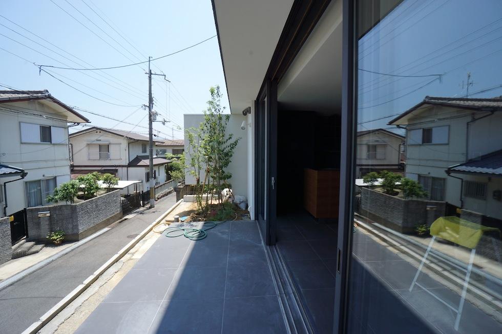 大阪狭山市の家,建築家,設計事務所,変形地,中庭,コートハウス4