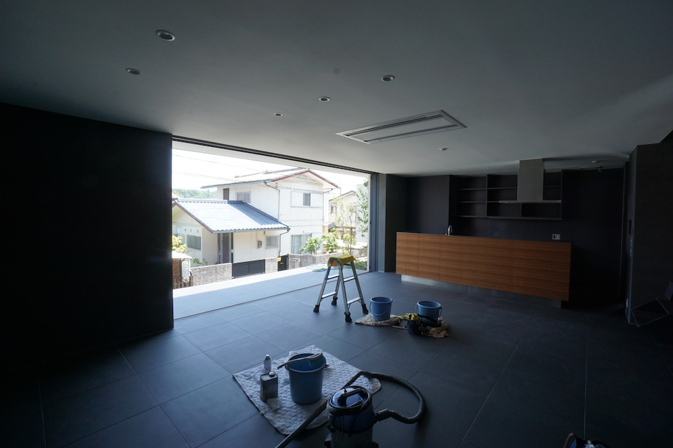大阪狭山市の家,建築家,設計事務所,変形地,中庭,コートハウス5