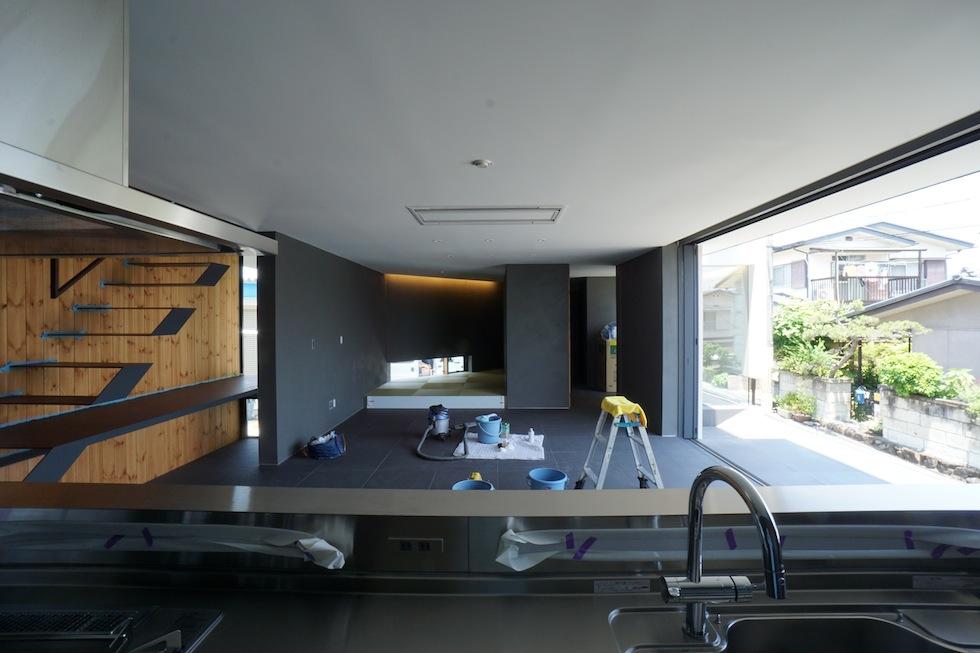 大阪狭山市の家,建築家,設計事務所,変形地,中庭,コートハウス7
