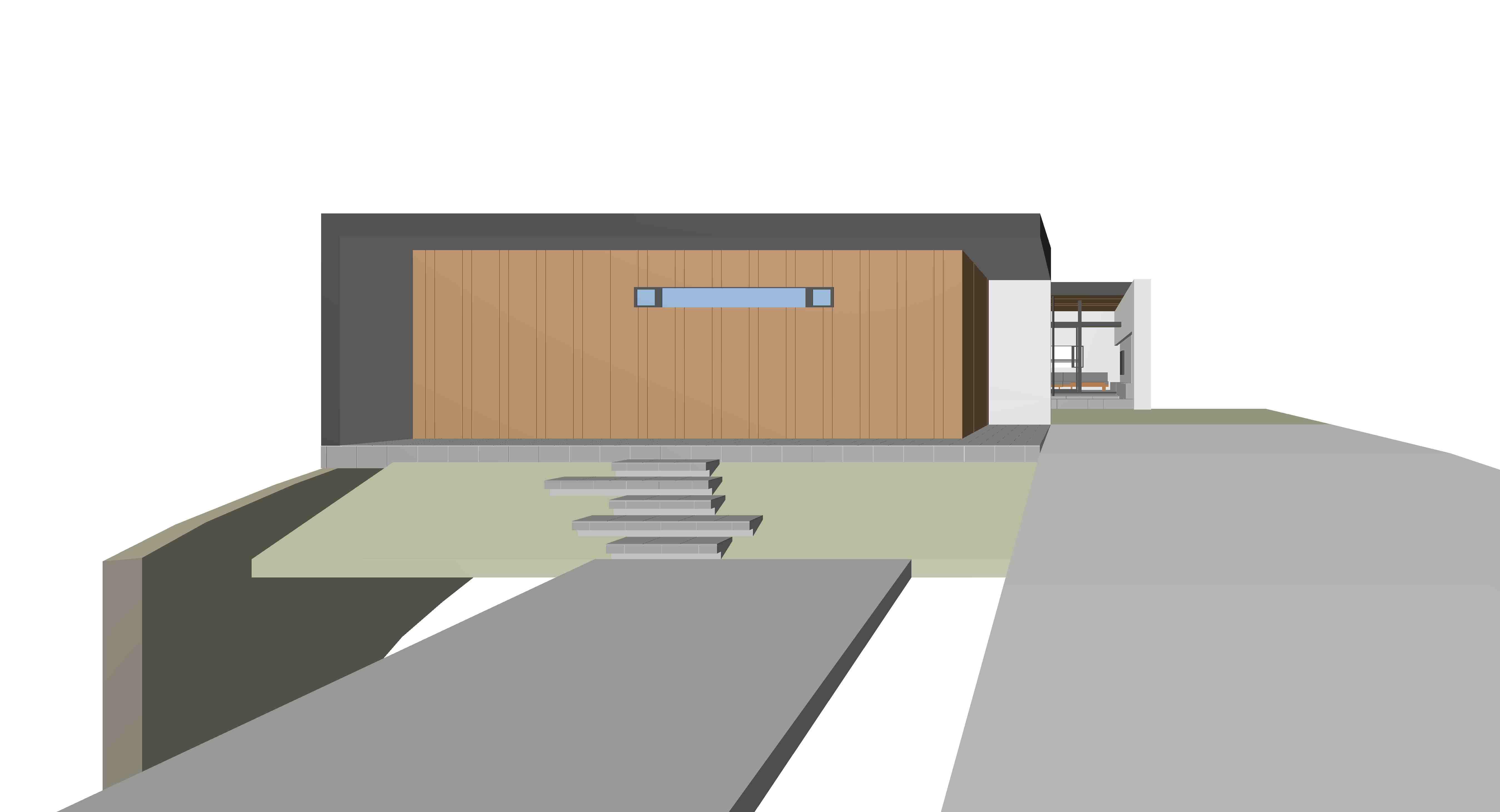 和泉の家_プールハウス,中庭
