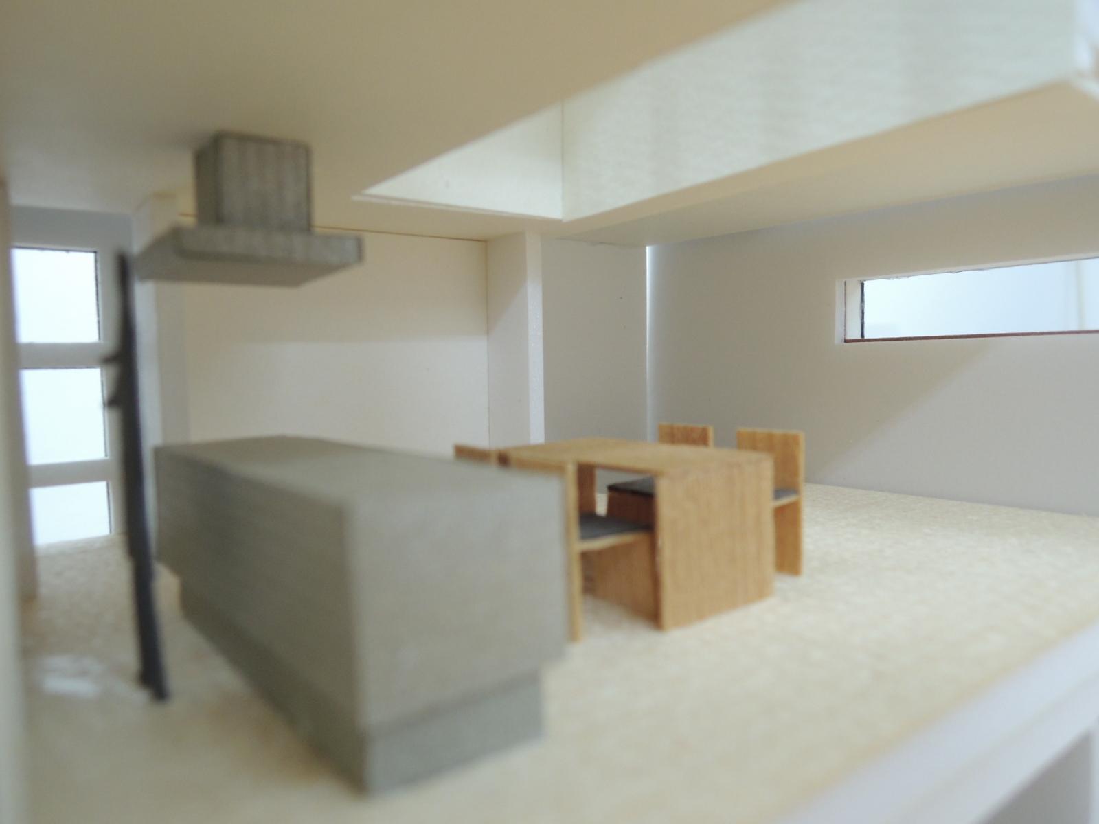 四條畷の家,キッチン,木造3階建て,デザイン