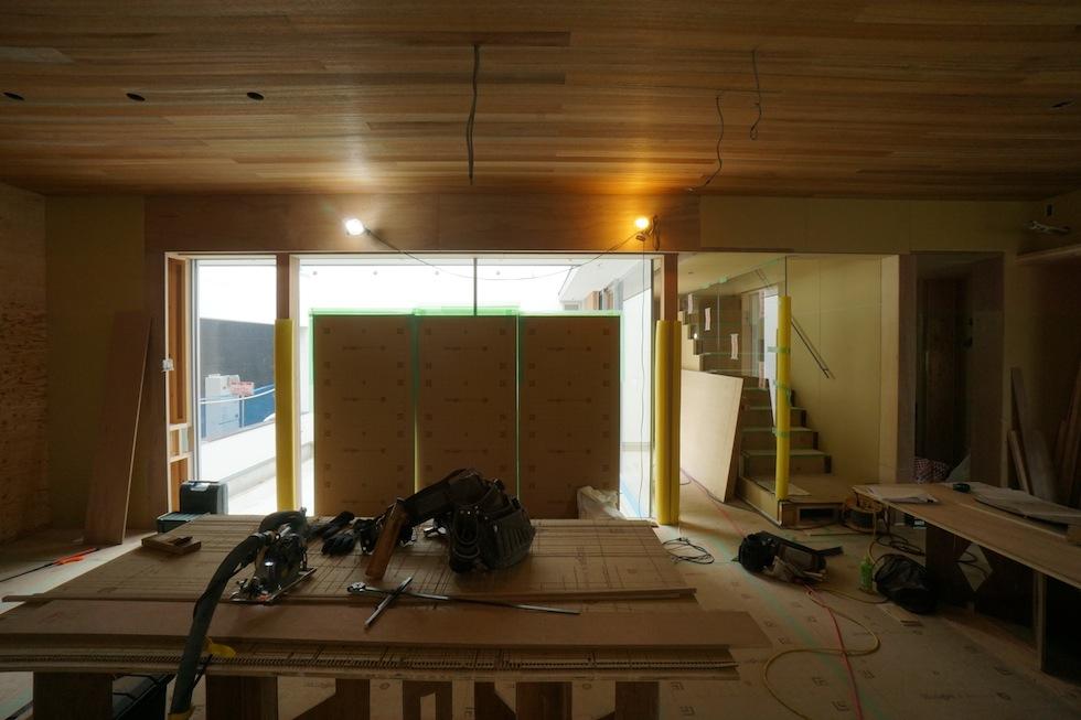 リビング,板貼り天井,建築家,デザイン,大阪,神戸,京都