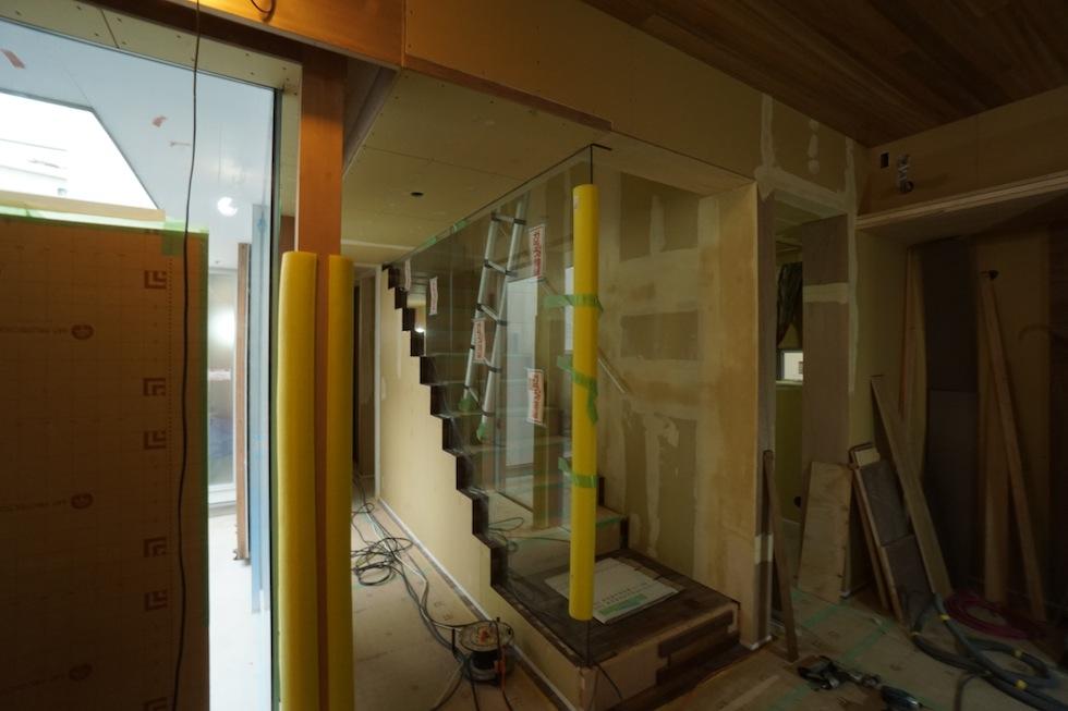 京都,大阪,神戸,建築家,設計事務所,住宅設計,中庭の家,コートハウス,ガラス階段,高級住宅