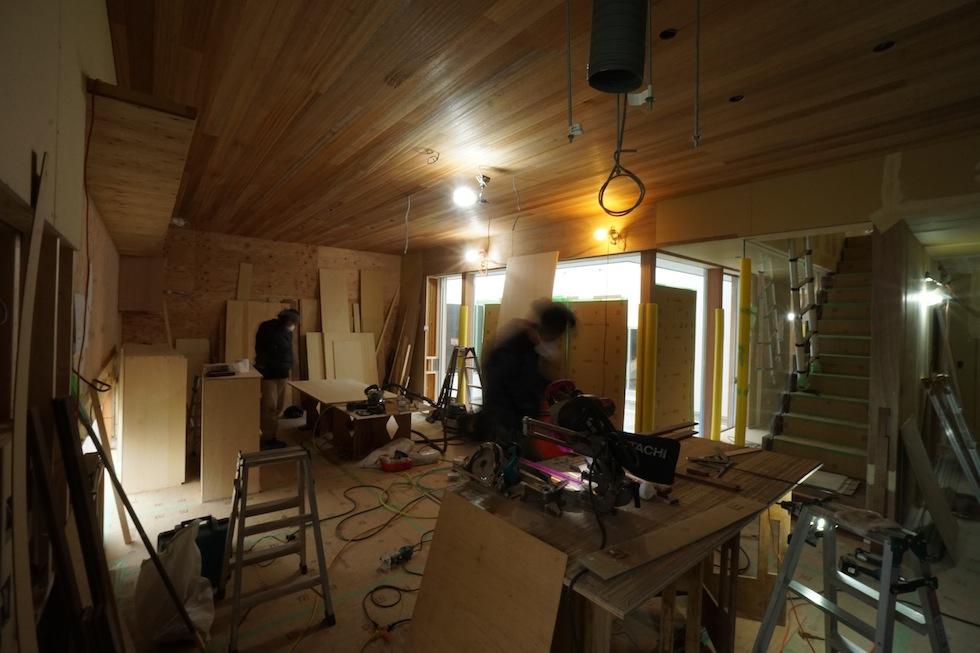 京都,大阪,神戸,建築家,設計事務所,住宅設計,中庭の家,コートハウス,リビング造作収納,高級住宅