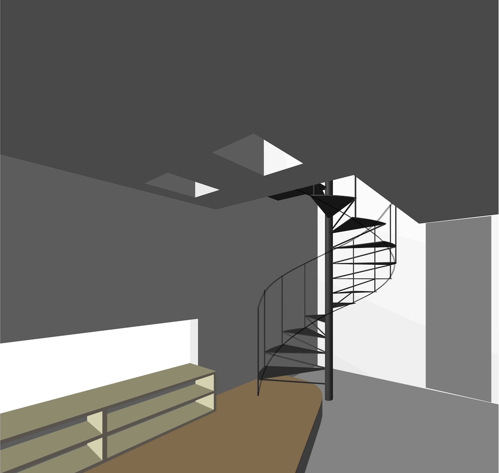 螺旋階段,デザイン,住宅設計,京都
