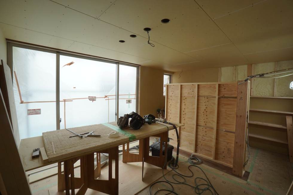 階段ホール,ギャラリー住宅設計,大阪,リビング寝室