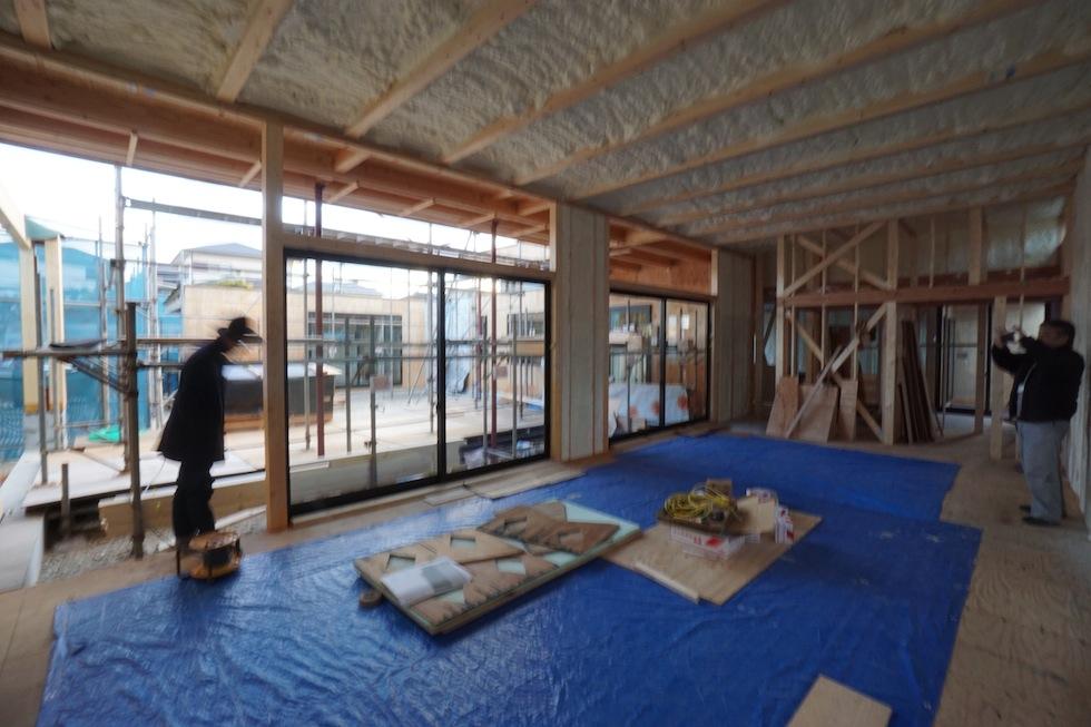 大阪,京都,神戸,高級注文住宅,設計事務所,建築家,上質デザイン,吹付断熱,大開口