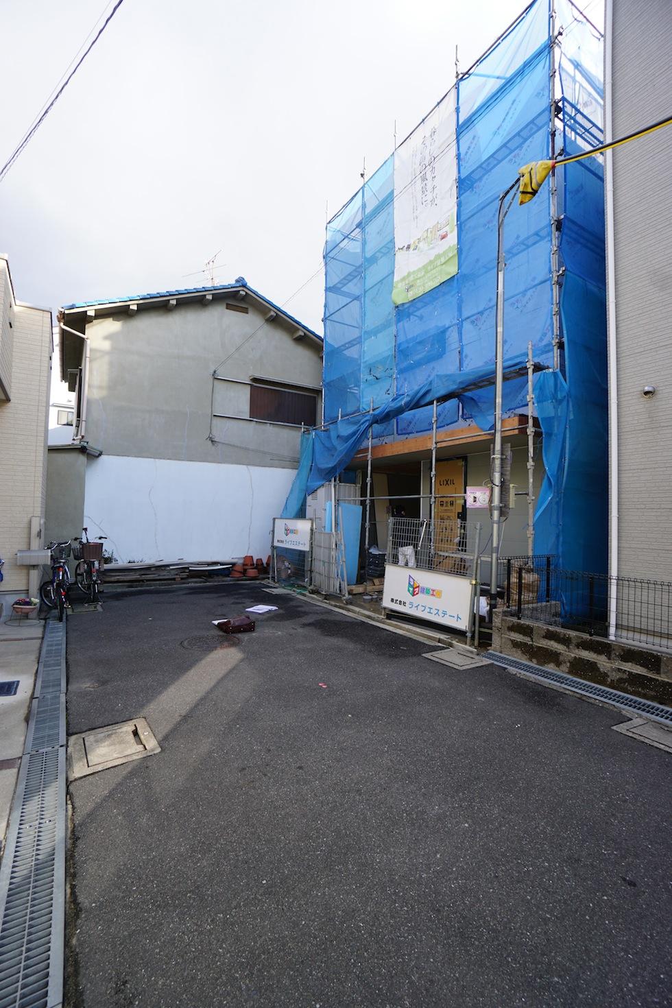 大阪,京都,神戸,高級注文住宅,木造3階建て,デザイン,外観
