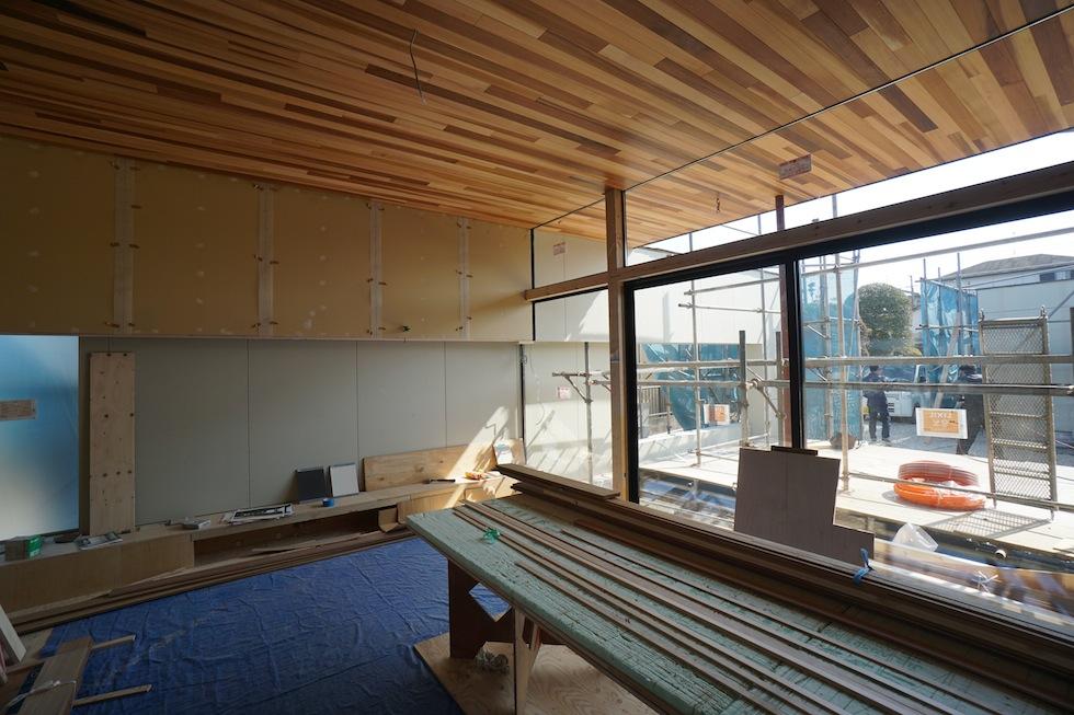 大阪,高級注文住宅,住宅設計,建築家,神戸,デザイン,プールハウス,コートハウス,ガレージハウス繋がる壁