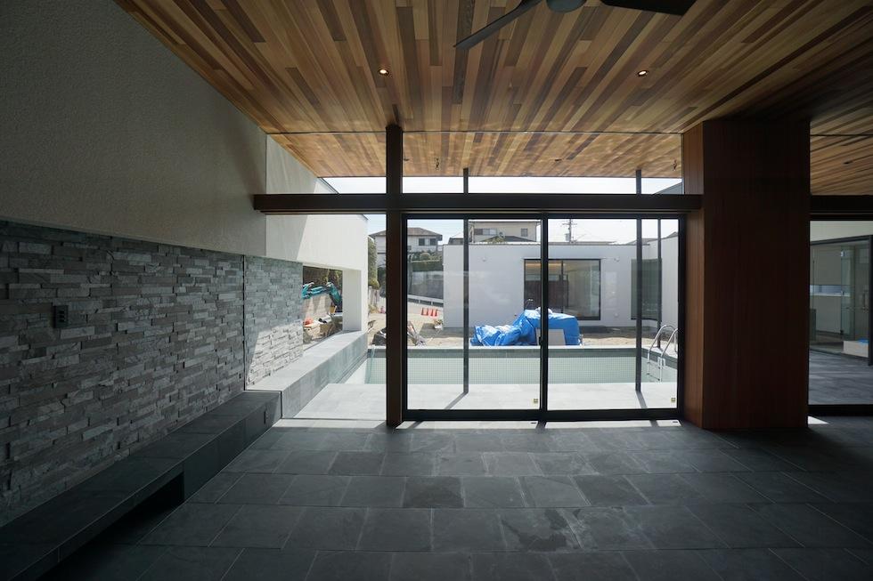 プールハウス,大阪,神戸,京都,設計事務所,建築家,住宅設計,高級注文住宅,和泉市,ユラユラ