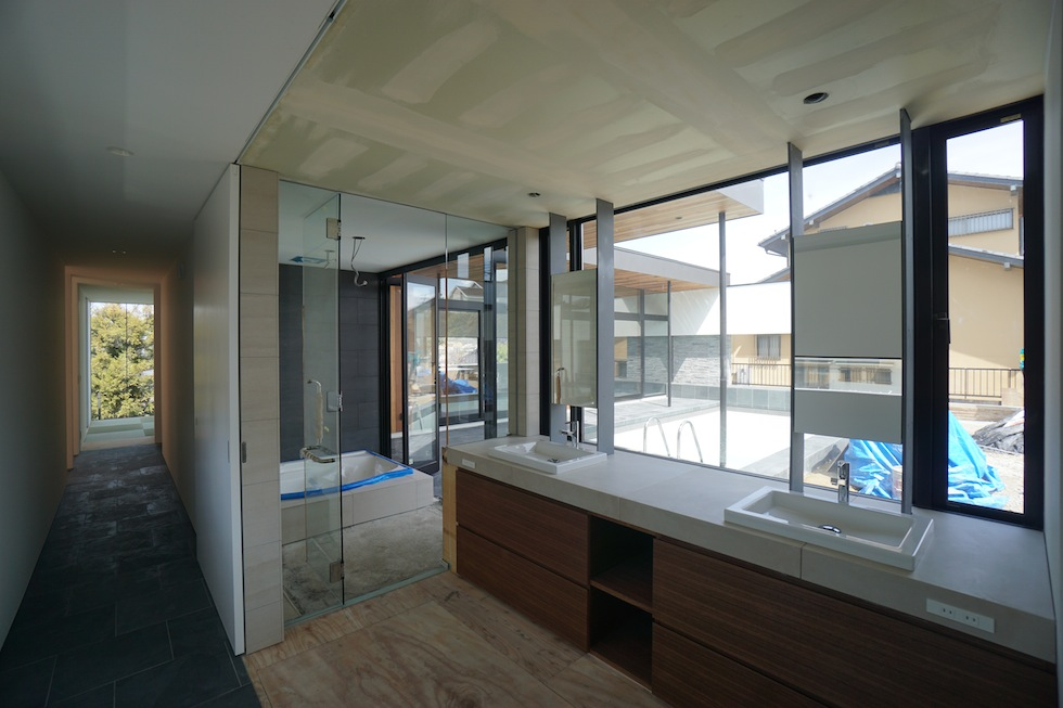 プールハウス,大阪,神戸,京都,設計事務所,建築家,住宅設計,高級注文住宅,和泉市,洗面室