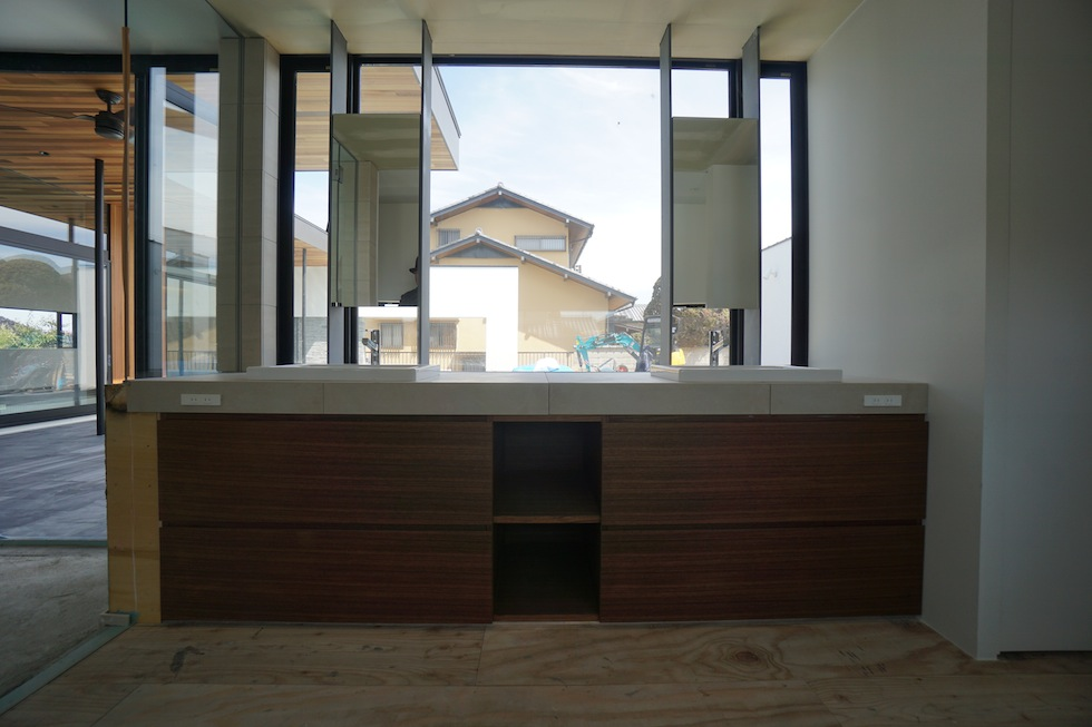 プールハウス,大阪,神戸,京都,設計事務所,建築家,住宅設計,高級注文住宅,和泉市,洗面