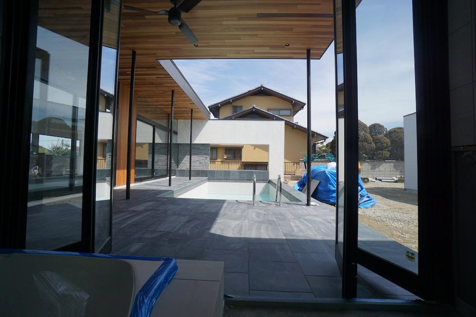 プールハウス,大阪,神戸,京都,設計事務所,建築家,住宅設計,高級注文住宅,和泉市,浴室オープン