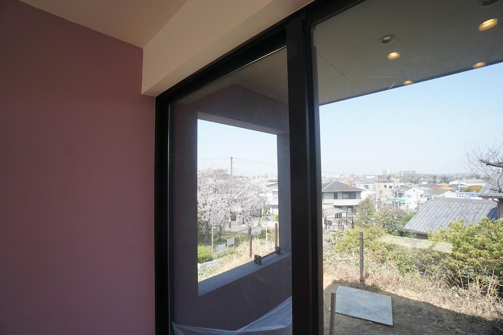 大阪,プールハウス,高級注文住宅,設計事務所,建築家,京都,神戸,桜,眺望