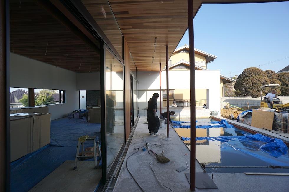 大阪,京都,神戸,高級注文住宅,設計事務所,建築家,プールハウス,中庭の家,プールサイド
