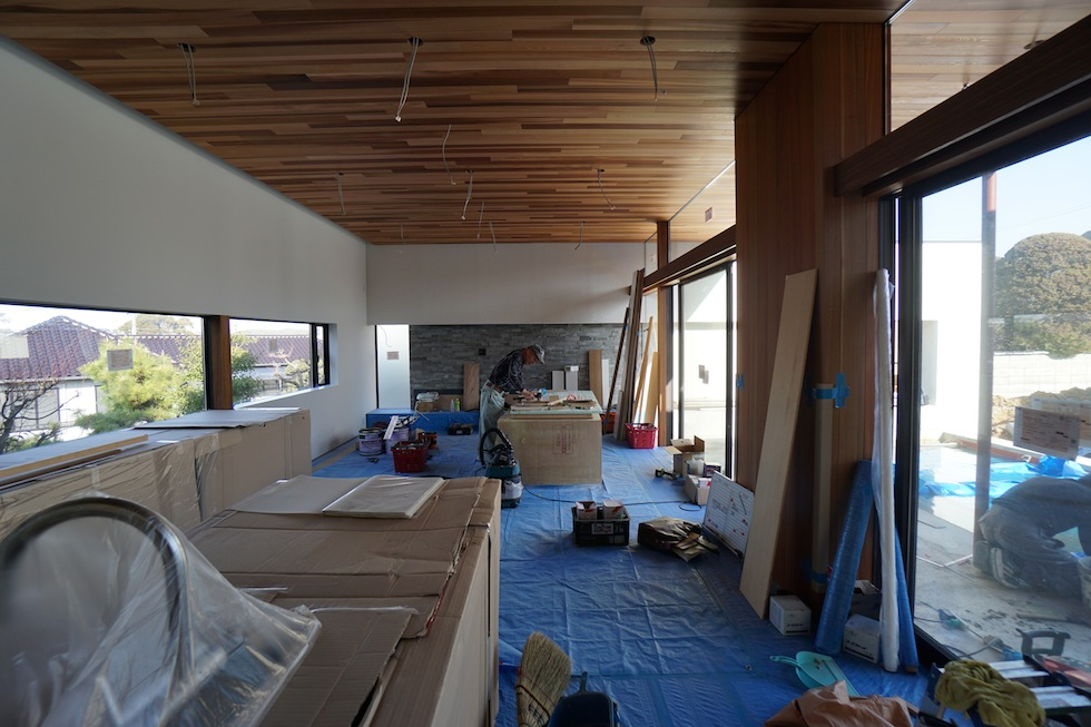 大阪,京都,神戸,高級注文住宅,設計事務所,建築家,プールハウス,中庭の家,リビング