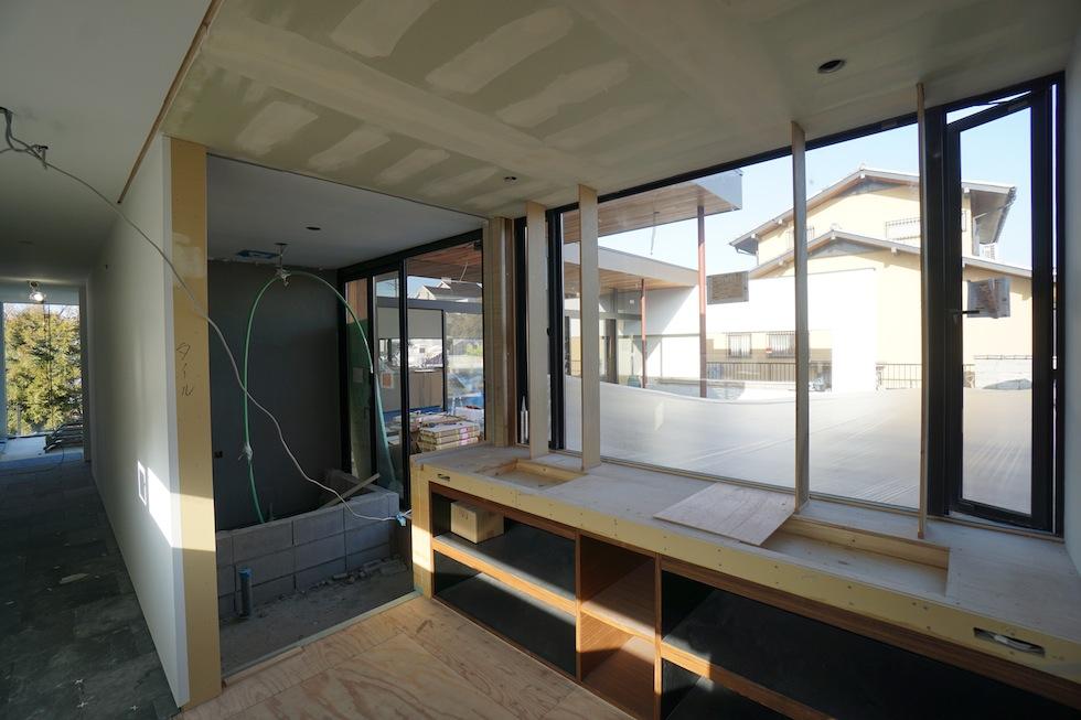 大阪,京都,神戸,高級注文住宅,設計事務所,建築家,プールハウス,中庭の家,洗面室
