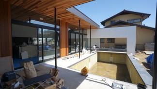 高級注文住宅,大阪,京都,神戸,建築家,設計事務所,住宅設計,プールハウス,中庭の家,ガレージハウス,プールサイドテラス