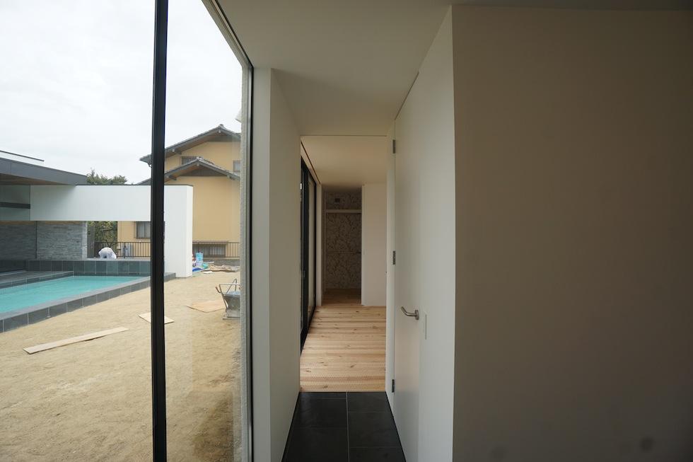 リゾートプールハウス,住宅設計,建築家,高級注文住宅,大阪,神戸,京都,寝室
