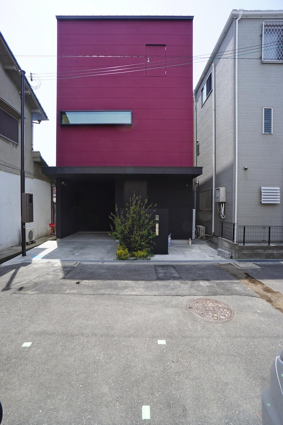 高級注文住宅,設計事務所,建築家,大阪,京都,神戸,3階建てデザイン,リビング,グランピングテラス,外観デザイン