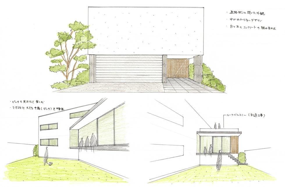 大阪,神戸,京都,建築家,住宅設計,設計事務所,高級注文住宅,コンクリート構造,プレゼンテーション