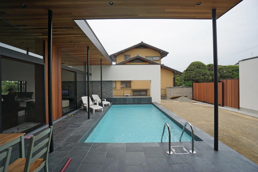 プールハウス,南国リゾートハウス,大阪,神戸,京都,設計事務所