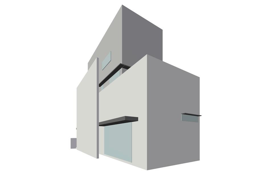 ヘアサロン併用住宅,高級注文住宅,外観,二世帯住宅,大阪,高槻