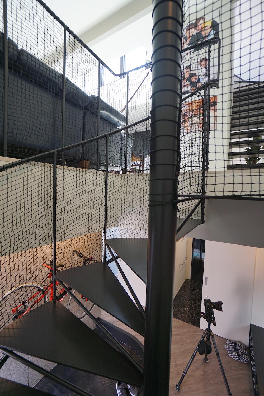竣工写真,大阪,四條畷,建築家,設計事務所,住宅設計,高級注文住宅,木造3階建て,螺旋階段