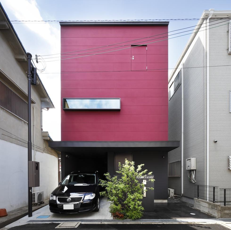 大阪,四條畷,建築家,設計事務所,住宅設計,高級注文住宅,木造3階建てデザイン,螺旋階段,外観デザイン,木3,外観デザイン